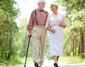 Места для пеших прогулок в пансионате для престарелых